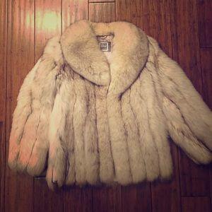 Vintage Saga Fur Silver Fox Fur Coat Medium